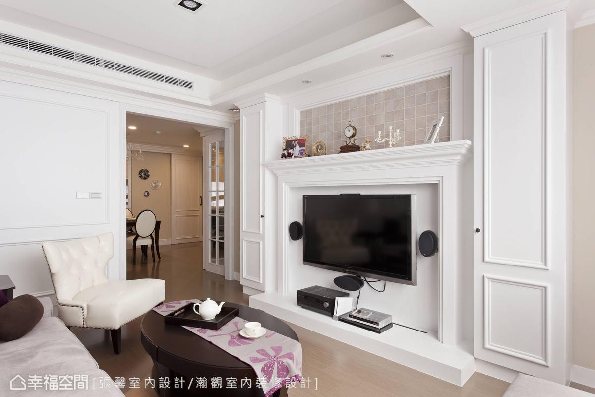 客厅电视墙功能区美式经典功能区设计图片赏析