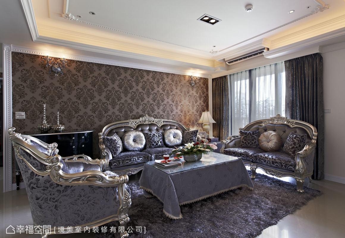 沙发背墙功能区美式经典功能区设计图片赏析