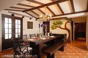 餐厅(2)厨房美式田园设计图片赏析