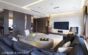 客厅201-500m²现代简约家装装修案例效果图