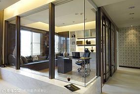 玻璃书房201-500m²现代简约家装装修案例效果图
