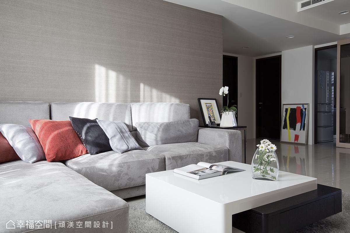 沙发背墙客厅现代简约客厅设计图片赏析