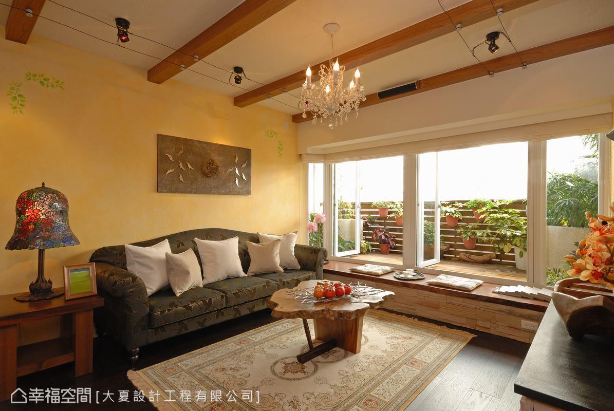 沙发背墙客厅美式田园客厅设计图片赏析