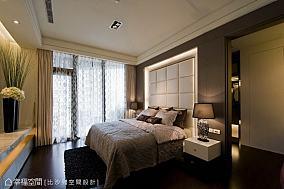 复古卧室深色墙纸图片