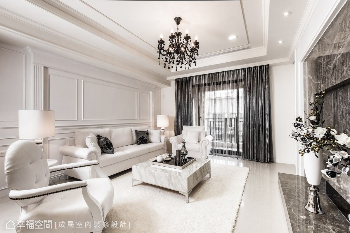 悠雅166平新古典样板间效果图客厅美式经典客厅设计图片赏析