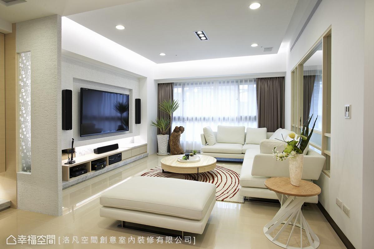 屏风端景客厅现代简约客厅设计图片赏析