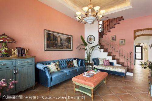 客厅客厅沙发151-200m²美式田园家装装修案例效果图