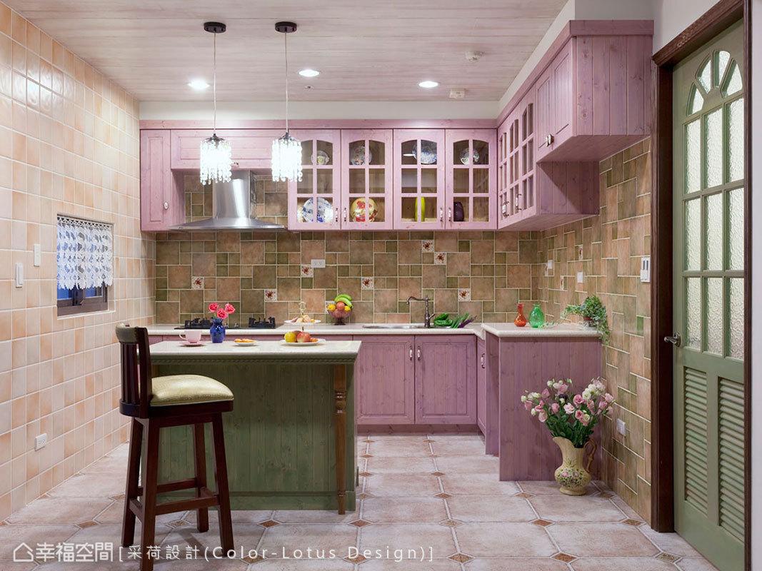 厨房餐厅美式田园厨房设计图片赏析
