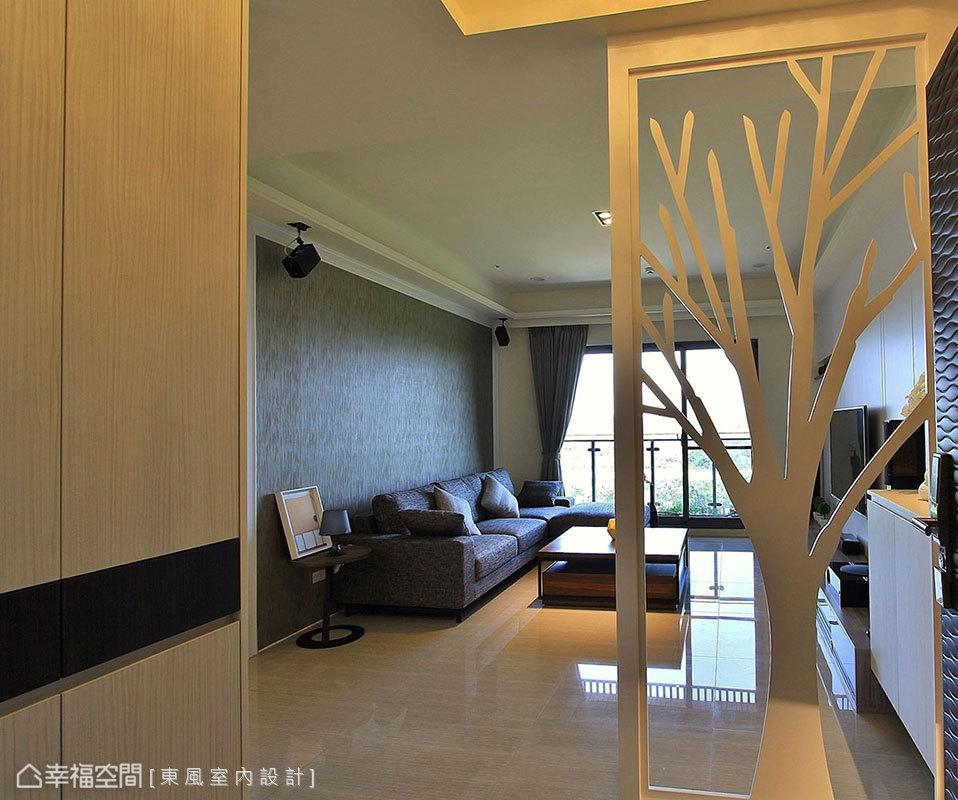 玄关隔断设计效果图库汇总客厅木地板现代简约客厅设计图片赏析