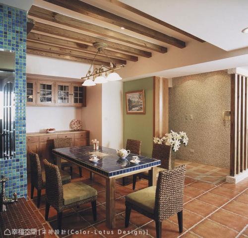 玄关厨房吊顶151-200m²美式田园家装装修案例效果图
