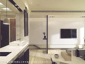 灵动居所的现代电视背景墙效果图