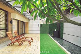 灵动居所的现代风格花园效果图