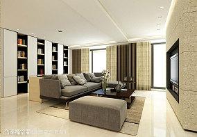 现代两居室室内客厅效果图