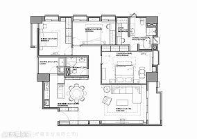 现代简约客厅木地板砖装修效果图