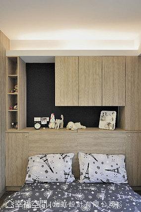 现代风卧室收纳柜设计图片