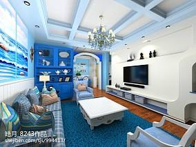 2018地中海四居客厅装修效果图片