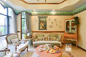 精选面积138平复式客厅田园装修实景图片大全