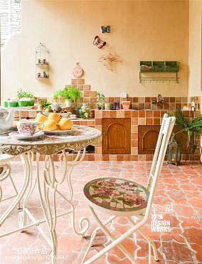 优美66平田园复式效果图片大全厨房美式田园设计图片赏析