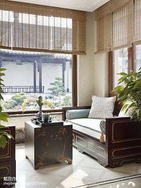精美290平中式样板间美图样板间中式现代家装装修案例效果图