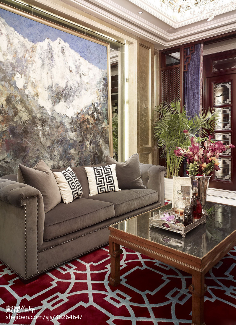 热门中式客厅欣赏图片客厅中式现代客厅设计图片赏析