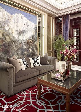 热门中式客厅欣赏图片样板间中式现代家装装修案例效果图