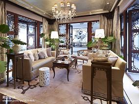 精美休闲区中式欣赏图片样板间中式现代家装装修案例效果图