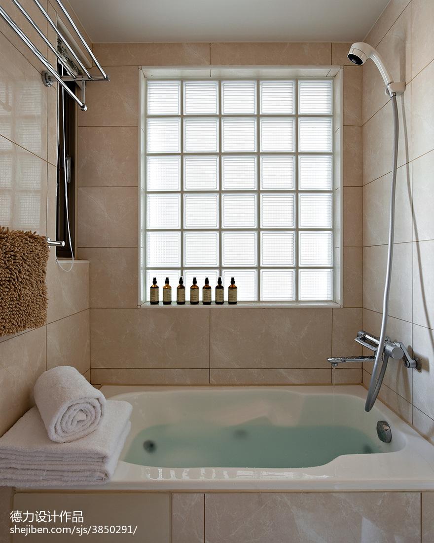 现代时尚风格卫浴装修设计效果图