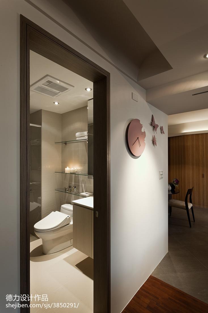 现代时尚风格卫浴隔断装修设计效果图