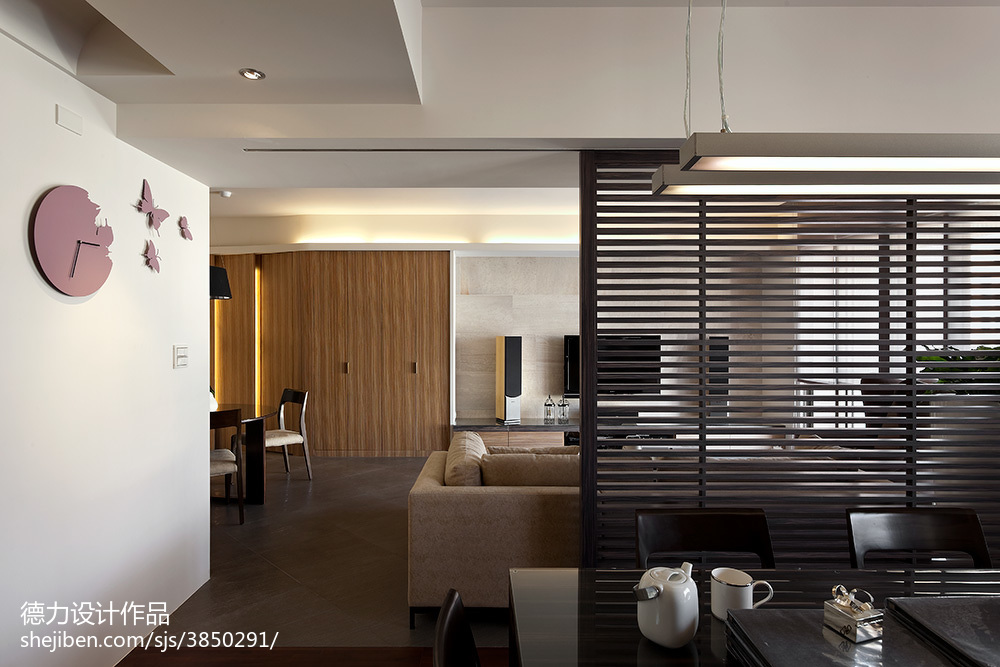 现代时尚风格客厅过道设计效果图