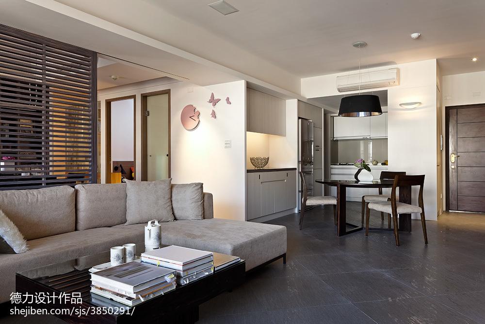 现代时尚风格客厅隔断装修设计效果图