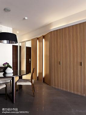 现代时尚风格餐厅隐形门设计效果图