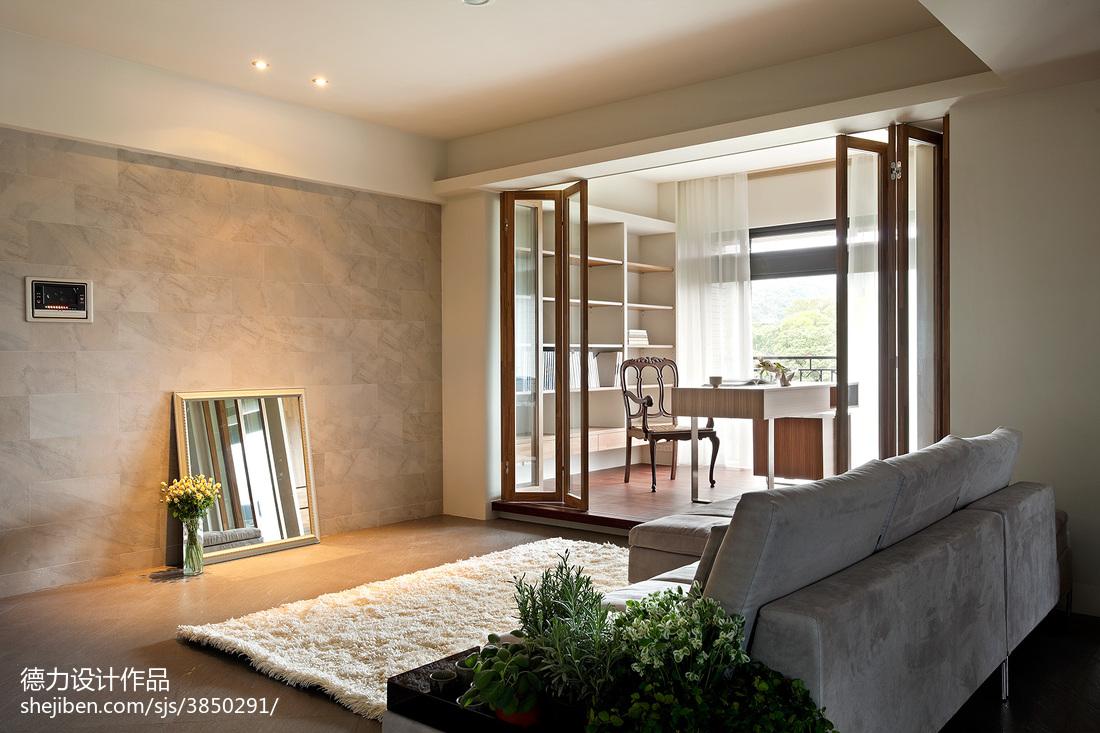 精选70平方二居客厅混搭装修设计效果图片大全客厅