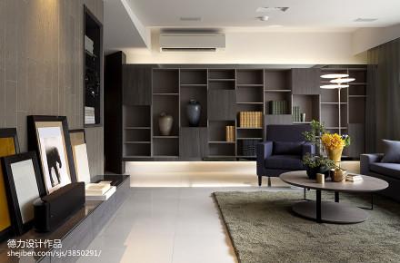 2018精选77平米二居客厅现代装修效果图片