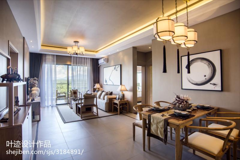 中式客厅吊顶样板房装修设计厨房中式现代餐厅设计图片赏析