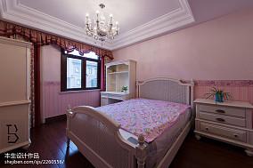 2018精选118平米美式别墅卧室实景图片