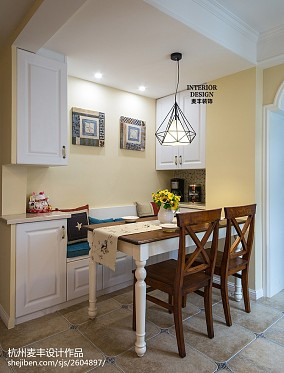 美式风格餐厅卡座装修图厨房美式经典设计图片赏析