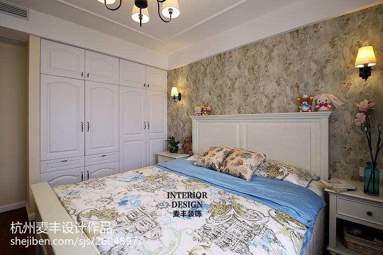 美式风格卧室背景墙装修图大全卧室
