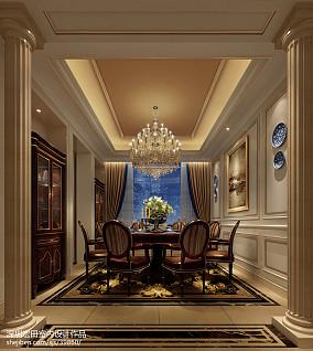 精选119平米欧式别墅餐厅设计效果图