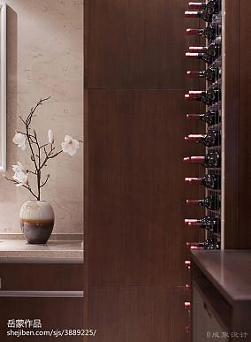 温馨255平中式样板间休闲区设计效果图样板间中式现代家装装修案例效果图