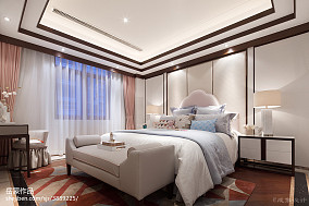 中式实景图片样板间中式现代家装装修案例效果图
