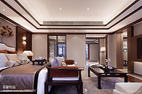 2018卧室中式效果图片样板间中式现代家装装修案例效果图