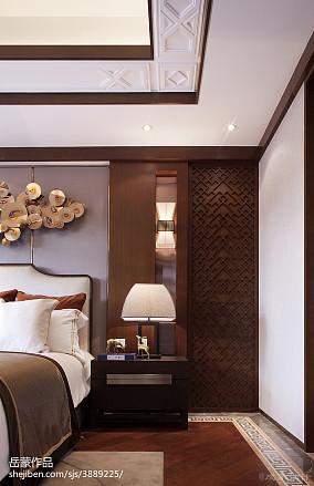 卧室中式装修图家装装修案例效果图
