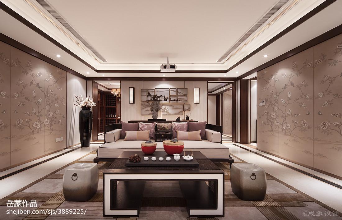 热门客厅中式装饰图样板间中式现代家装装修案例效果图