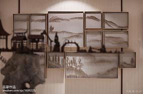 2018精选客厅中式装修实景图片大全样板间中式现代家装装修案例效果图