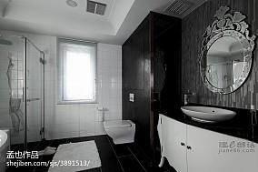 精美128平米混搭别墅卫生间装修效果图片欣赏
