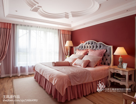 96.0平精美混搭卧室实景图片欣赏卧室2图