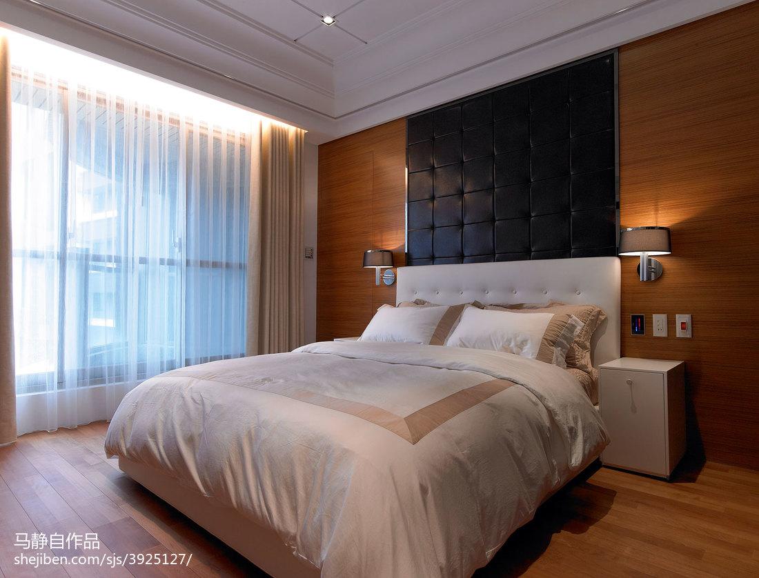 三居室混搭卧室窗帘装修效果图
