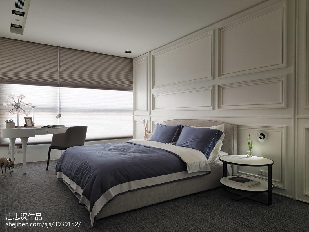 三居室现代时尚卧室窗帘装修设计