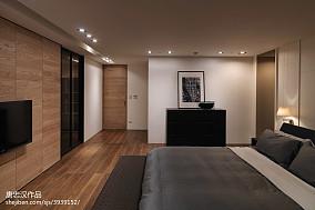 三居室现代时尚卧室电视墙装修设计