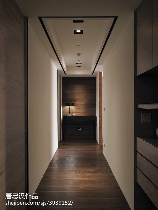 三居室现代时尚过道吊顶装修设计
